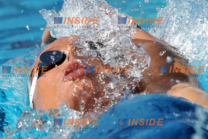 Federica Pellegrini<br /> 200m Backstroke Women<br /> Roma 15/6/2013 Piscina del Foro Italico <br /> Nuoto 50mo trofeo Settecolli<br /> Settecolli 50th International swimming trophy <br /> Foto Antonietta Baldassarre Insidefoto