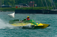 "13 July 2008  APBA Gold Cup.Fred Alter, U-64 ""Miss Vernors"" Cabover Unlimited Hydroplane.©2008 F.Peirce Williams."