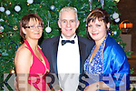 Patricia and Gerard Kennedy with Lana Horbach, Portmagee, at the IHF dinner in the Brehon Hotel on Thursday night.