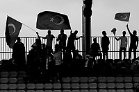 Turkey fans celebrate their 2-1 victory during Portugal Under-19 vs Turkey Under-21, Tournoi Maurice Revello Football at Stade Parsemain on 3rd June 2018