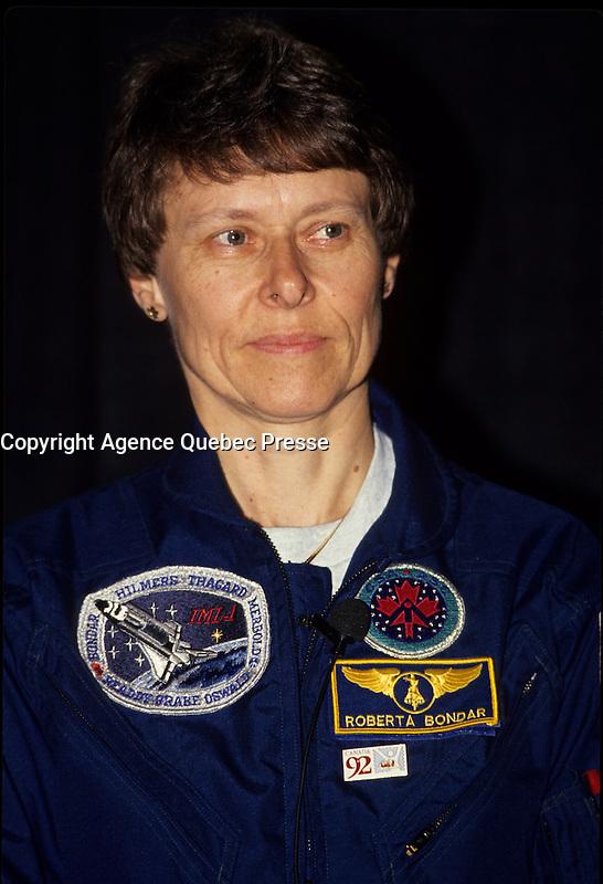 Roberta Bondar, astronaut, March 29, 1992