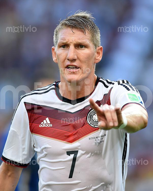 FUSSBALL WM 2014                FINALE Deutschland - Argentinien     13.07.2014 Bastian Schweinsteiger (Deutschland)
