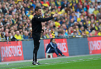 Caretaker Head Coach Paul Heckingbottom of Barnsley during the Johnstone's Paint Trophy Final match between Oxford United and Barnsley at Wembley Stadium, London, England on 3 April 2016. Photo by Alan  Stanford / PRiME Media Images.