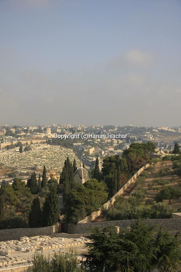 Israel, Jerusalem, a view from the Mount of Olives
