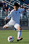 Spanish Springs Cougars Victor Garcia shoots and scores from the corner against the Wooster Colts during the 2013 NIAA Division I Northern Region Boys Soccer Championship played on Saturday afternoon, November 9, 2013 at Bishop Manogue High School in Reno, Nevada.