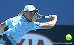 Jerzy Janowicz (POL) wins at Australian Open in Melbourne Australia on 16thJanuary 2013