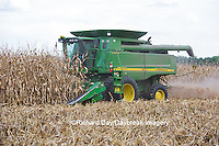 63801-07018 Farmer harvesting corn, Marion Co., IL