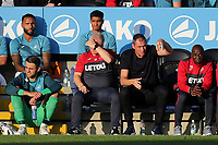 Swansea City Manager, Paul Clement, looks on during Barnet vs Swansea City, Friendly Match Football at the Hive Stadium on 12th July 2017