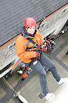 Ann McCormack who abseiled off the roof of the D Hotel to raise money for Drogheda Animal Rescue...Picture Jenny Matthews/Newsfile.ie
