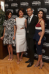Spanish actress Macarena Gomez, Barbara Lennie, Jordi Trilles and Nerea Barros pose for photographers during a presentation for a sponsor of the Goya Awards with hairdressers and Makeup artist at Academia de Cinema in Madrid January 14, 2015, Spain. (ALTERPHOTOS / Nacho Lopez)