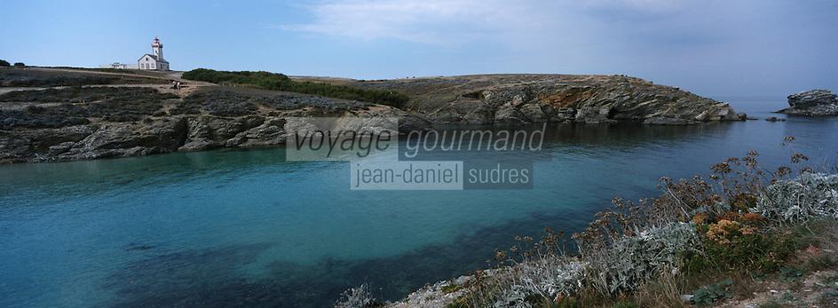 Europe/France/Bretagne/56/Morbilhan/Belle-Ile: La Pointe des Poulains et son Phare