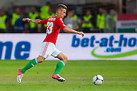 Hungary's Krisztian Nemeth leads the ball during a World Cup 2014 qualifying soccer match Hungary playing against Netherlands in Budapest, Hungary on September 11, 2012. ATTILA VOLGYI