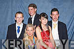 DEBS: Having a great time at the Vocational School Abbeyfeale Debs, on Thursday night in the Abbey Gate Hotel, Tralee, L-r: Jamie O'Mahony (Tournafalla), Fiona Morrissy (Abbeyfeale), Conor Kiely (Brosna), Claire Cahill and Daniel Brosnan (Knocknagoshel)..... ..........