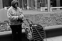 Images of homeless and desperate people trying to exist on the streets of Chicago Homeless people as seen on the streets of Chicago, Illinois.<br />