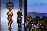 Graduating student Jinwoo Hong, won the Sophie Theallet Critic Award, during the Future of Fashion 2017 runway show at the Fashion Institute of Technology on May 8, 2017.