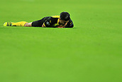 13th September 2017, Wembley Stadium, London, England; Champions League Group stage, Tottenham Hotspur versus Borussia Dortmund; Mahmoud Dahoud of Borussia Dortmund goes down injured