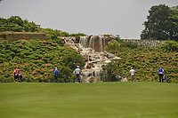 A long view of the green on 3 from the fareway during Rd 2 of the Asia-Pacific Amateur Championship, Sentosa Golf Club, Singapore. 10/5/2018.<br /> Picture: Golffile | Ken Murray<br /> <br /> <br /> All photo usage must carry mandatory copyright credit (© Golffile | Ken Murray)