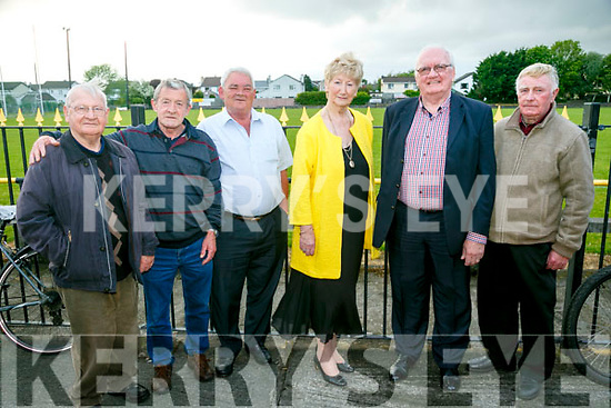 J J Murphy, John Dowling, John Duggan, Mairead Fernane, Tim Guiheen and Brendan Dowling at the Unveils  of The Rock monument to commemorate the  100 year celebrations  outside Austin Stacks GAA club grounds at Connolly Park on Monday evening