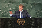 DSG meeting<br /> <br /> AM Plenary General DebateHis<br /> <br /> <br /> His Excellency Emmanuel Macron, President, French Republic