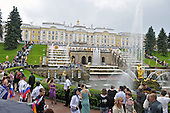 Peterhof, Russia - August 14, 2009 -- Tourists visit the gardens and fountains of Peterhof, near St. Petersburg, Russia on Friday, August 14, 2009.  It was founded in 1710 as a summer residence for Peter the Great..Credit: Ron Sachs / CNP