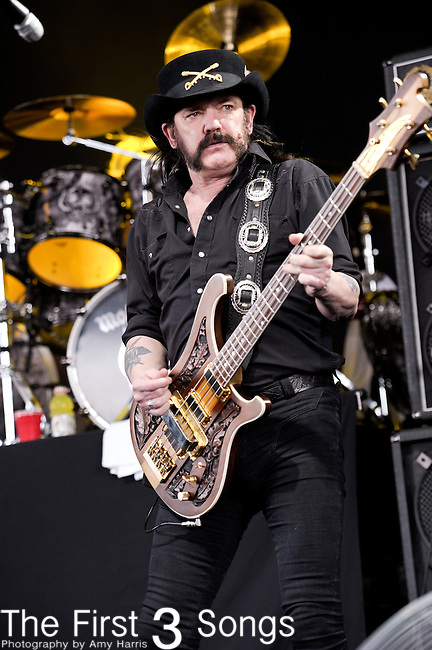 Ian 'Lemmy' Kilmister of Motorhead performs at the 2012 Rockstar Energy Drink Mayhem Festival at Riverbend Music Center in Cincinnati, Ohio.