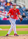 28 February 2017: Washington Nationals pitcher Trevor Gott on the mound during the Spring Training inaugural game against the Houston Astros at the Ballpark of the Palm Beaches in West Palm Beach, Florida. The Nationals defeated the Astros 4-3 in Grapefruit League play. Mandatory Credit: Ed Wolfstein Photo *** RAW (NEF) Image File Available ***