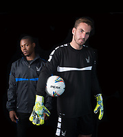 Goalkeeper Scott Brown & Brendan May during the PEAK Elite Sportswear Photoshoot at Wycombe Training Ground, High Wycombe, England on 1 August 2017. Photo by PRiME Media Images.