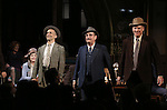"""Holland Taylor, David Pittu, Danny Mastrogiorgio and Christopher McDonald during the Broadway Opening Night performance curtain call bows for """"The Front Page""""  at the Broadhurst Theatre on October 20, 2016 in New York City."""