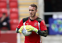 Alex Cairns of Fleetwood Town warms up before the Sky Bet League 1 match between Rotherham United and Fleetwood Town at the New York Stadium, Rotherham, England on 7 April 2018. Photo by Leila Coker.
