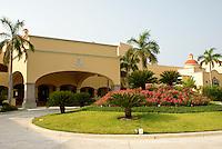 Entrance to Hacienda Tres Rios, an eco-luxury resort on the Riviera Maya, Quintana Roo, Mexico.