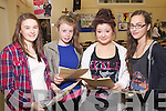 Presentation Secondary School Tralee students collecting their Junior Cert results on Wednesday, from left: Sorcha Lyne, Katie Ferriter, Sarah McMann and Rachel Walsh, all from Tralee..