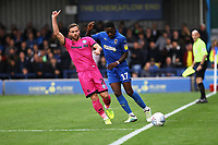 Jimmy Ryan of Rochdale AFC and Michael Folivi of AFC Wimbledon during AFC Wimbledon vs Rochdale, Sky Bet EFL League 1 Football at the Cherry Red Records Stadium on 5th October 2019