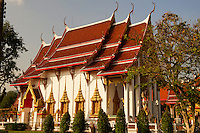 The most important of the 29 buddhist temples of Phuket is Wat Chalong or formally Wat Chaiyathararam, located in the Chalong Subdistrict, Mueang Phuket District. It houses an important relic, a bone fragment of Gautam Buddha.