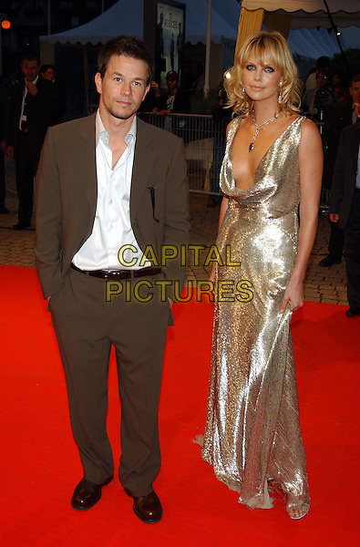 "MARK WALHBERG & CHARLIZE THERON.arrive at screening of their film.""The Italian Job"".Deauville Film Festival.sales@capitalpictures.com.www.capitalpictures.com.©Capital Pictures"