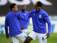 Huddersfield Town's Trevoh Chalobah during the pre-match warm-up<br /> <br /> Photographer Andrew Vaughan/CameraSport<br /> <br /> The Carabao Cup First Round - Huddersfield Town v Lincoln City - Tuesday 13th August 2019 - John Smith's Stadium - Huddersfield<br />  <br /> World Copyright © 2019 CameraSport. All rights reserved. 43 Linden Ave. Countesthorpe. Leicester. England. LE8 5PG - Tel: +44 (0) 116 277 4147 - admin@camerasport.com - www.camerasport.com