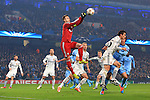 Igor Akinfeev of CSKA punches clear - Manchester City vs. CSKA Moscow - UEFA Champions League - Etihad Stadium - Manchester - 05/11/2014 Pic Philip Oldham/Sportimage