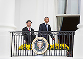 China's President XI Jinping and United States President Barack Obama participate in an official State Visit on the South Lawn of the White House in Washington, DC on Friday, September 25, 2015.<br /> Credit: Chris Kleponis / Pool via CNP