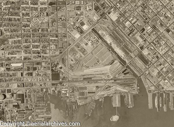 Historical aerial photograph Mission Bay San Francisco California 1946