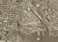Historical aerial photograph Mission Bay San Francisco California 1946