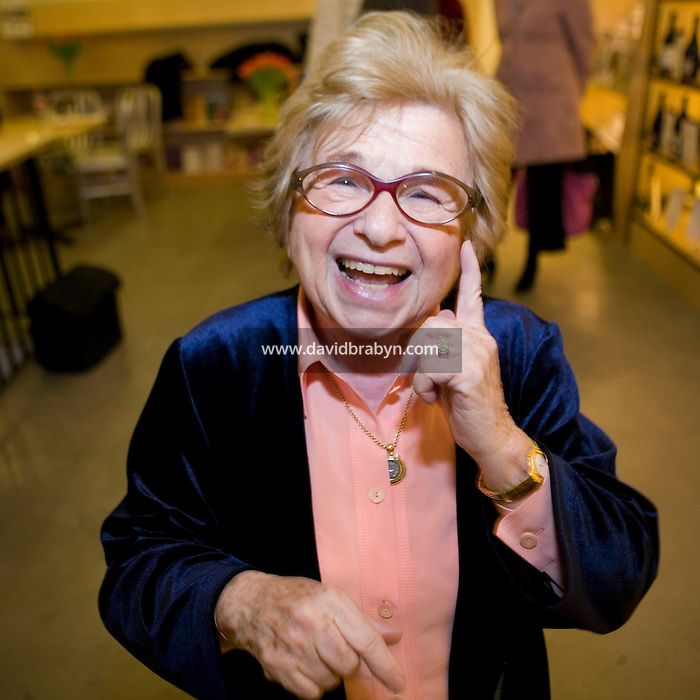 13 February 2007 - New York City, NY - American sex therapist and author Ruth Westheimer, aka Dr Ruth, poses for the photographer during a promotional event for the third edition of her book Sex For Dummies in New York City, NY, 13 February 2007.