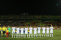 USA U-20 Starting Eleven on the field before the match against South Korea during the FIFA Under 20 World Cup Group C match between the United States and South Korea at the Mubarak Stadium on October 02, 2009 in Suez, Egypt.