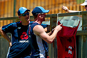 November 5th 2017, WACA Ground, Perth Australia; International cricket tour, Western Australia versus England, day 2; Former England international Paul Collingwood signs the Barmy Armies flag during play on day two of the tour match between Western Australia and England