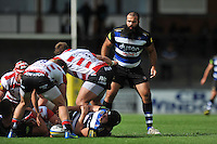 Kane Palma-Newport of Bath Rugby looks on. West Country Challenge Cup match, between Gloucester Rugby and Bath Rugby on September 13, 2015 at the Memorial Stadium in Bristol, England. Photo by: Patrick Khachfe / Onside Images