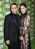 BEVERLY HILLS, CA - JANUARY 06: Kieran Culkin (L) and Jazz Charton attend HBO's Official Golden Globe Awards After Party at Circa 55 Restaurant at the Beverly Hilton Hotel on January 6, 2019 in Beverly Hills, California.<br /> CAP/ROT/TM<br /> ©TM/ROT/Capital Pictures