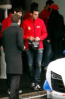 Real Madrid Player Arbeloa and recives new Audi during the presentation of Real Madrid's new cars made by Audi at the Jarama racetrack on November 8, 2012 in Madrid, Spain.(ALTERPHOTOS/Harry S. Stamper) .<br /> &copy;NortePhoto
