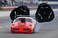 May 15, 2015; Commerce, GA, USA; NHRA pro mod driver Peter Farber during qualifying for the Southern Nationals at Atlanta Dragway. Mandatory Credit: Mark J. Rebilas-USA TODAY Sports