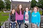 WELLIE TIME: Enjoying the Kilflynn Wellie throwing competition on Saturday l-r: Emma Carmody, Olivia Carmody, Bronwyn Hanafin and Caitriona Horgan.