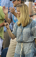 August 31, 2012: Model Brooklyn Decker looks on as her husband Andy Roddick (USA) plays his second round Men's Singles match on Day 5 of the 2012 U.S. Open Tennis Championships at the USTA Billie Jean King National Tennis Center in Flushing, Queens, New York, USA. mpi105 / Mediapunchinc NortePhoto.com<br />