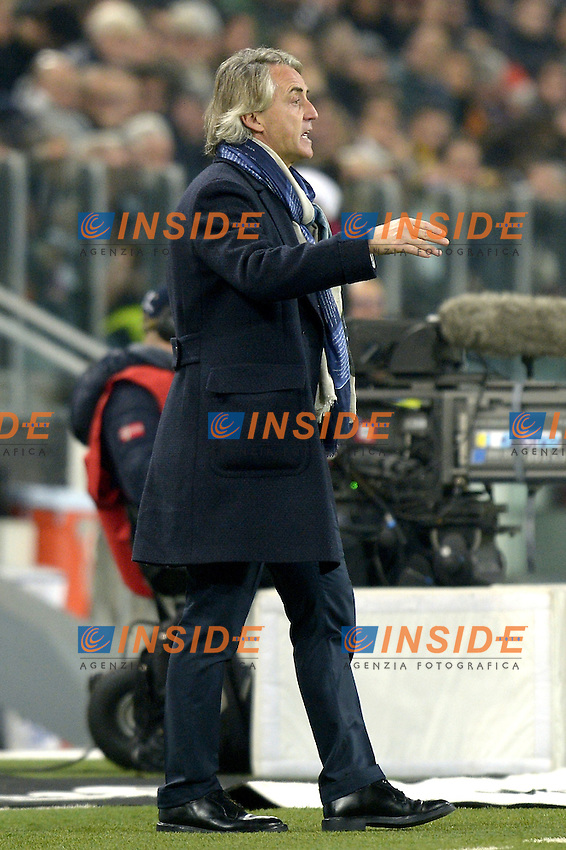 Roberto Mancini Inter,<br /> Torino 27-01-2016, Juventus Stadium, Football Calcio 2015/2016 Coppa Italia, Juventus - Inter, Foto Filippo Alfero/Insidefoto