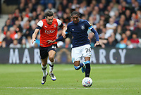 Huddersfield Town's Jaden Brown and Luton Town's Harry Cornick<br /> <br /> Photographer Rob Newell/CameraSport<br /> <br /> The EFL Sky Bet Championship - Luton Town v Huddersfield Town - Saturday 31 August 2019 - Kenilworth Stadium - Luton<br /> <br /> World Copyright © 2019 CameraSport. All rights reserved. 43 Linden Ave. Countesthorpe. Leicester. England. LE8 5PG - Tel: +44 (0) 116 277 4147 - admin@camerasport.com - www.camerasport.com